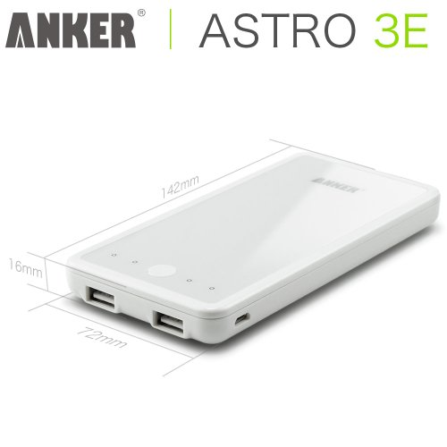 Anker Astro3E 大容量モバイルバッテリー10000mAh【18ヶ月保証】iPhone5S、5C、5、4S/iPad Air/iPad Mini Retina/iPad Mini/iPad/iPod/Galaxy/Xperia/ASUS/Android/各種スマホ等対応