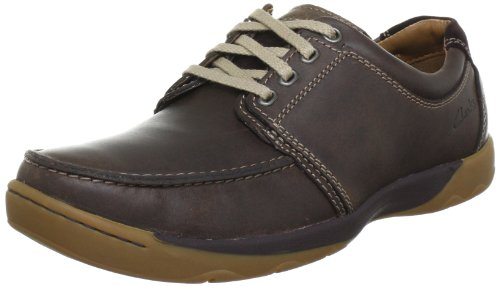 Clarks Ridgeway Walk Lace-Ups Mens Brown Braun (Dark Brown Lea) Size: 11 (45 EU)