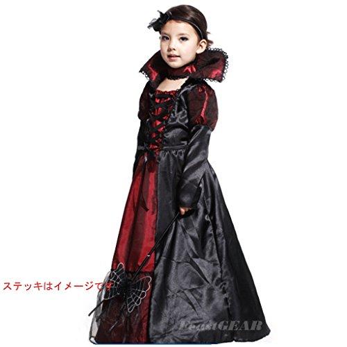 コスプレ 吸血鬼 かわいい 女の子 ドラキュラ仮装衣装 3サイズ (130-140cm(XL))