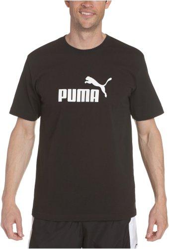 Puma Men's No 1 Logo Tee,Black-White,Large
