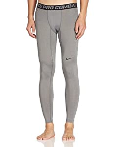 NIKE Herren Hose Pro Combat Core Compression 2.0 Tights, Carbon Heather/Black, S, 449822-021