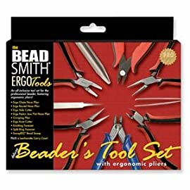 BeadSmith 9 Piece Ergonomic Tool Kit Pliers / Jewelry