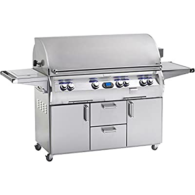 Fire Magic Echelon Diamond E1060 All Infrared Natural Gas Grill With Single Side Burner On Cart