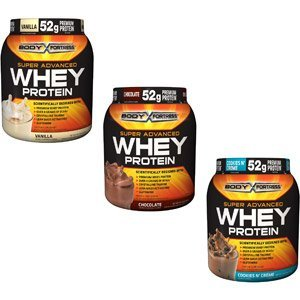 3 Jars-Body Fortress Super Advanced Whey Protein Powder Cookies N' Cream 2 Lbs (907...