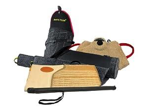 Dean & Tyler 4-Piece Pro Bundle Set, Includes Tri-Level Bite Sleeve/Sleeve Cover/Developer Pad/Agitation Stick for Training Intermediate Dogs