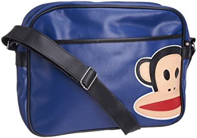 Paul Frank Julius Monkey Messenger Shoulder Flight Bag - Pink with Pink tartan trim from Paul Frank