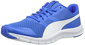 PumaFlexracer - Zapatillas Unisex adulto, color azul (Electric Blue lemonade-puma White 14), talla 44