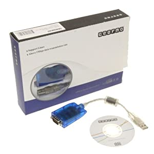 Windows 7 Compatible USB Serial Adapter FTDI Chip RS232 DB-9 920K with TX/RX LED