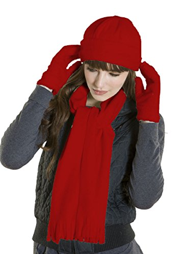 New Ladies Velour Fleece LANCASTER Hat - Glove