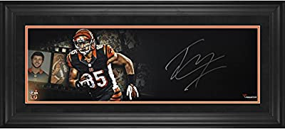 "Tyler Eifert Cincinnati Bengals Framed Autographed 10"" x 30"" Film Strip Photograph - Fanatics Authentic Certified"