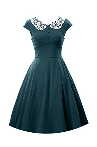 ILover Womens Classy Vintage Audrey Hepburn Style 1940