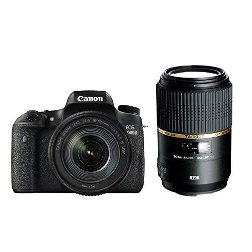Canon デジタル一眼レフ EOS 8000D レンズキット EF-S18-135mm F3.5-5.6 IS USM + TAMRON 単焦点マクロレンズ SP 90mm F2.8 Di MACRO 1:1 VC USD セット