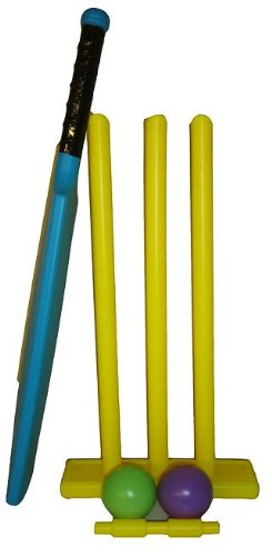 Plastic Cricket Set with bat, ball and stumps
