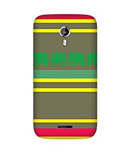 Stripes And Elephant Print (37) Micromax Canvas Magnus A117 Case