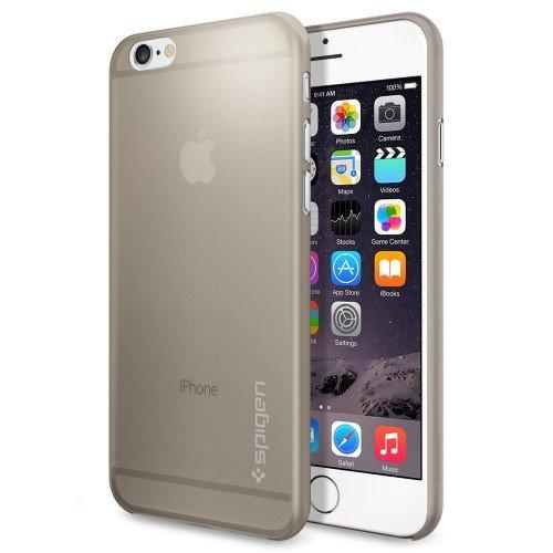iPhone 6 ケース Spigen [薄さ0.4mm] エアースキン Apple iPhone 4.7 (2014) (国内正規品) (シャンパン・ベージュ SGP11082)