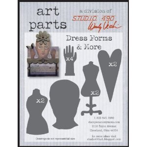 Stampers Anonymous Wendy Vecchi Chipboard Art Parts 11/Pkg Dress Forms & More