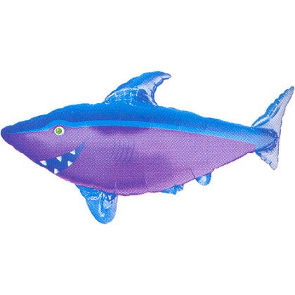 "Shark Shaped 41"" Mylar Balloon"