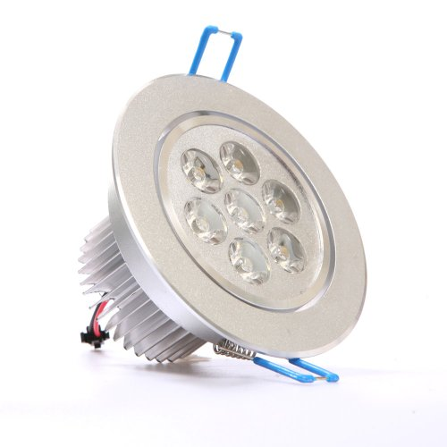 Ledquant 7W Dimmable Cree Recessed Led Lighting Fixture, Recessed Downlight, Warm White