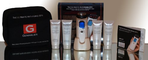 Ultimate Anti Aging SPA IV - Galvanic, LED Infra Red, Micro-Massage travel KIT with 4x advanced gels for Skin Lifting, Wrinkle Reduction, Cellulite Reduction and Flawless Skin