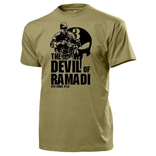 Chris Kyle American Sniper Navy Seal Team 3 US Iraq la Guerra Eroe sigilli Texas 160 uccide US Army America del cranio logo - 15939# T-Shirt sabbia X-Large