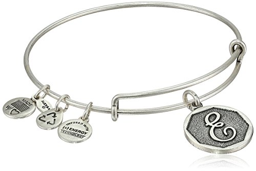 Alex and Ani Rafaelian Silver Finish Initial