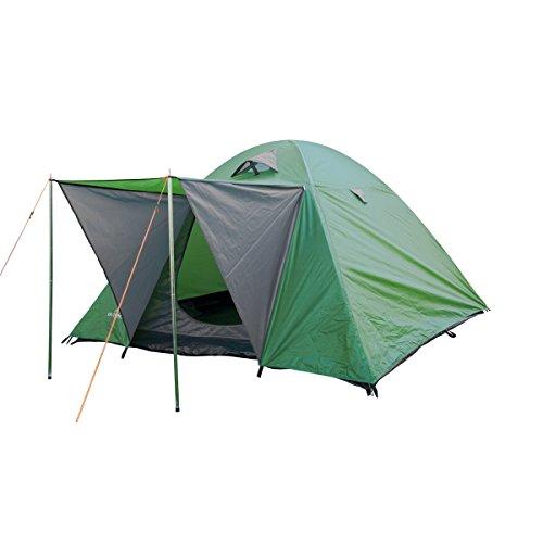 "® Campingzelt, Igluzelt, Kuppelzelt ""Woodland II"" oder ""Woodland III"" für 2,3,4 Personen (3 Personen Grün)"