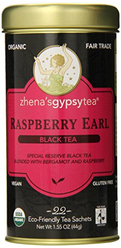 Zhena'S Gypsy Tea, Raspberry Earl, 1.55 Oz, 22 Count Tea Sachets