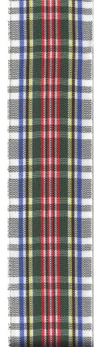 Offray Monofilament Edge Classic Tartan Plaid Craft Ribbon, 1-1/2-Inch Wide by 25-Yard Spool, Dress Stewart