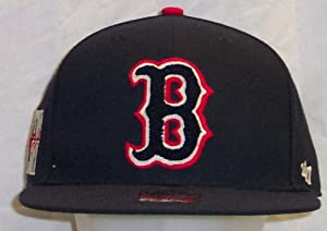 Boston Red Sox Caterpillar 47 Pro Wool Cooperstown Fitted Navy Cap Hat size 7 7 8 by