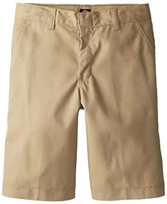 Dickies Boys 8-20 Flex Waist Flat Front Short - School Uniform,Khaki,16 Regular