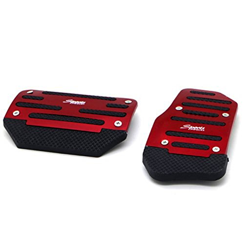 Bestown 2 Pcs Sport Racing Style Non Slip Car Foot Pedal Cover Kit for A/T Automatic Transmission Red (Automatic Transmission Pedals compare prices)