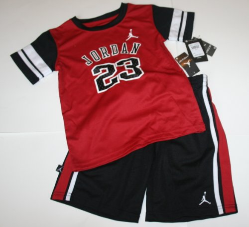 9fdd2b1a3ef6 Nike Air Jordan Jumpman23 Boy Girl Shirt Shorts Set Size  6 Red Black Review