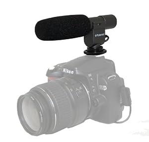 Polaroid Pro Video Condenser Shotgun Microphone For The Sony Alpha NEX-C3, 7, 5, 3, F3, SLT-A33, A35, A55, A57, A77, DSLR A100, A200, A230, A290, A300, A330, A350, A380, A390, A450, A500, A560, A550, A700, A850, A900 Digital SLR Cameras