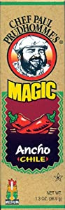 Chef Paul Prudhomme's Magic Seasoning Blends ~ Ancho Ground Dried Magic Chile, 1.3-Ounce Bottle