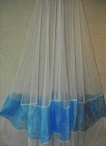 Improved Mosquito Net (White/Blue)