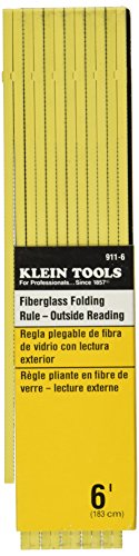 Klein Tools 911-6 Fiberglass Outside Reading Folding Rule