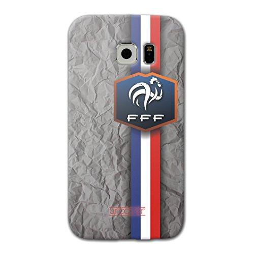 [EM SPEZIAL] Samsung Galaxy S6 Fussball Handyhülle mit Staubschutzkappen von original Urcover® in der UEFA EURO 2016 Edition Galaxy S6 Schutzhülle Case Cover Etui Europameisterschaft 2016 Fahne Fanartikel Team Frankreich