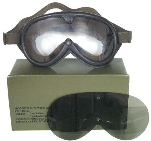 Military Style Sun, Wind & Dust Ballistic Goggles