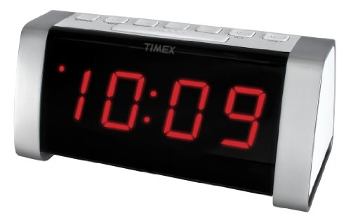 Timex T235WY AM/FM Dual Alarm Clock Radio with Jumbo Display and Line-In Jack (White)
