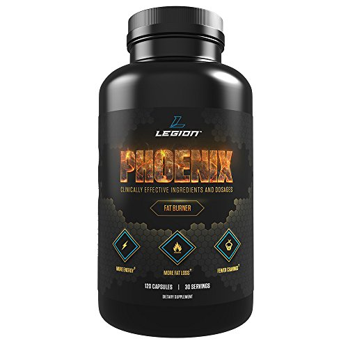 LEGION Phoenix - Best Caffeine-Free Weight Loss Pills for Women and Men, Best Fat Burners Without Side Effects, Powerful Belly Fat Burner, Weight Loss Pills That Work Fast - 30 Servings, 120 Capsules