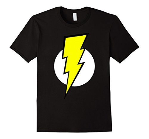 [Men's Lightning Bolt last minute costume T-Shirt XL Black] (Lightning Bolt Costumes)