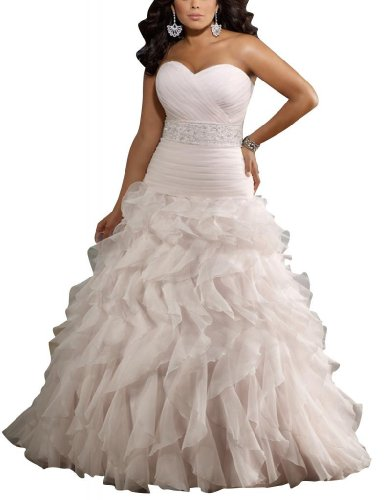 GEORGE BRIDE Strapless A-line Wedding Dress With Ruche Style and Sash Beaded Size 18 White