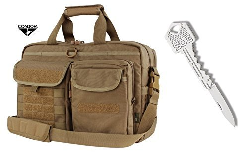 Condor Metropolis Briefcase (Brown) + FREE SOG Key Knife