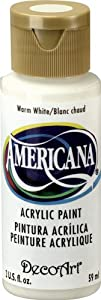 DecoArt Americana Acrylic Paint, 2-Ounce, Warm White