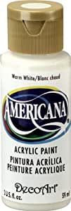 DecoArt Americana Acrylic Paint, 2-Ounce, Warm White