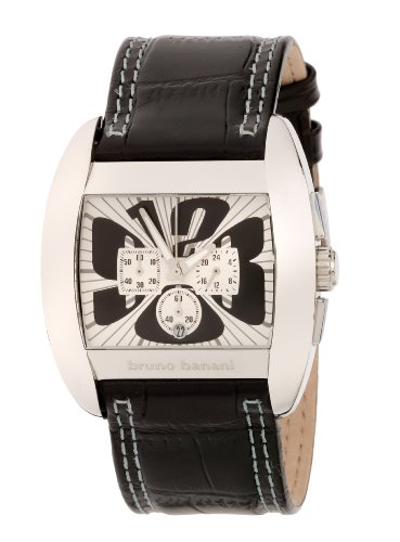 Bruno Banani Gents Black and Cream Multi Dial Watch with Black Leather Strap