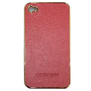 Promate Lux Leather Case for iPhone 4/4S (Dark Red)