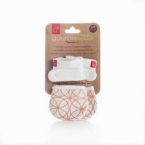 Goumimitts - smart, stay on baby mittens - 1 pack (S/M pinwheel orange)