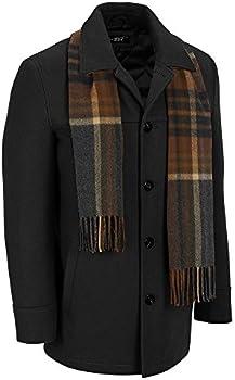 Black Rivet Mens Wool Coat