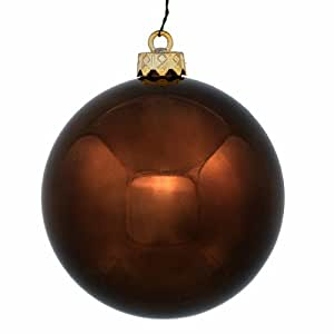"""Shiny Chocolate Brown Commercial Shatterproof Christmas Ball Ornament 6"""" (150mm)"""